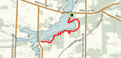 Walborn Reservoir Trail Map