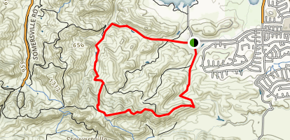 Ridge Trail to Old Homestead Trail Loop Map