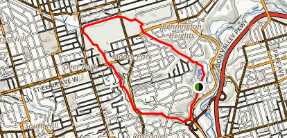 Moore Park Ravine to David Balfour Park Loop Map