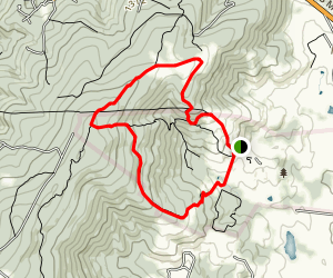 Sky Meadows Gap Run Via North and South Ridge Loop Map