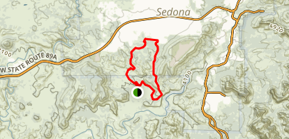 Old Post and Ridge Trail Loop Map