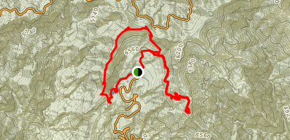 Windy Gap to South Mount Hawkins, Mount Islip, and Cystal Lake Loop Map