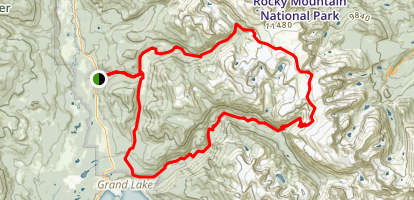 Contential Divide National Scenic Trail (CDNST) Loop Map