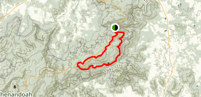Bluff Trail, Mount Marshall Trail, Appalachian Loop Map