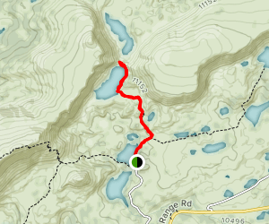 Lewis Lake, South Gap Lake, and Snowy Mountains Trail Map