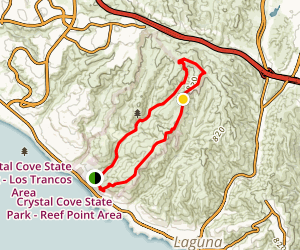 El Moro Canyon to Moro Ridge Loop Map