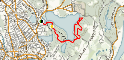Dudley Porter and Shore Trail Loop Map