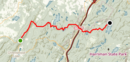 Appalachian Trail: Highway 17A to Seven Lakes Map