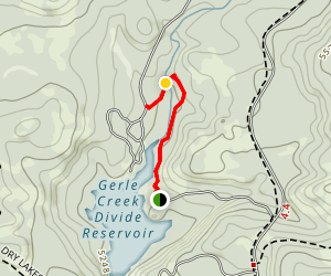 Gerle Creek Trail Map