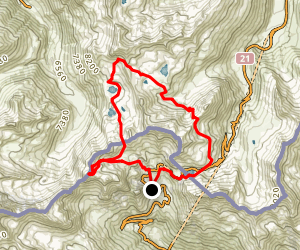 Mont Fourchon Loop  Map