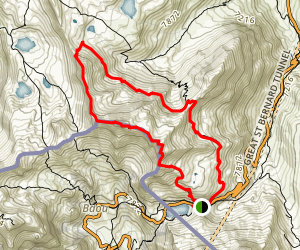 Col du Grand-Saint-Bernard Map