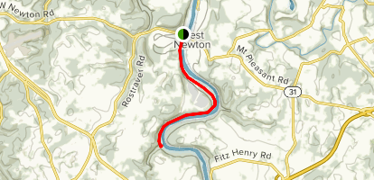 Yough River Trail - West Newton to Cedar Creek Map