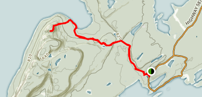 Sleeping Giant Head Trail Map