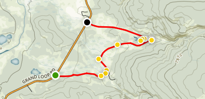 Firehole Lake Drive  Map