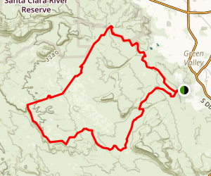 Green Valley, Bearclaw Poppy, and Stucki Springs Loop Map