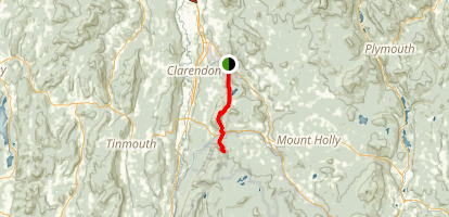Appalachian Trail: Clarendon Gorge to Greenwall Shelter Map
