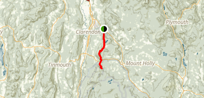 Appalachian Trail: Clarendon Gorge to Greenwall Shelter via Long Trail Map