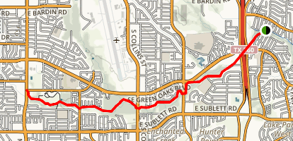 Fish Creek Linear Park Trail Map