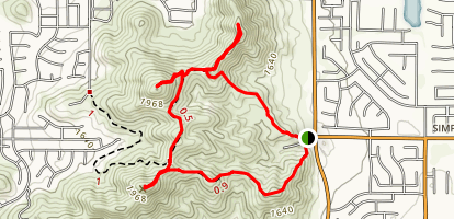Three Peaks Loop Map