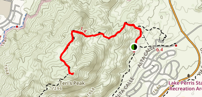 Terri Peak - Lake Perris Trail Map