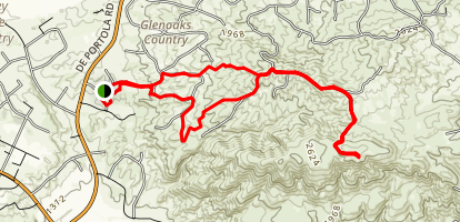 Temecula to Vail Lake Overlook and Oak Mountain Map