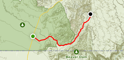 Mojave Desert and Joshua Tree Road Scenic Backway Map