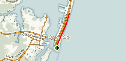 Ocean City Boardwalk Map