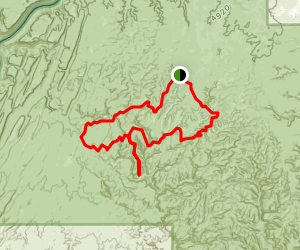 Chesler Park and Druid Arch Loop from Squaw Flat Campground Map