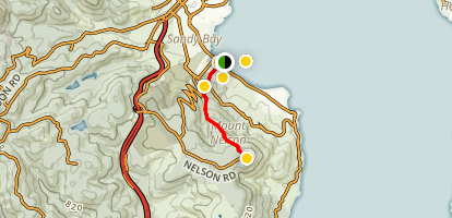 Wrest Point to Mt Nelson Signal Station Map