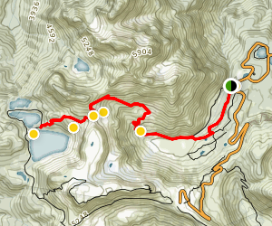 Herman Saddle Ski Tour Map