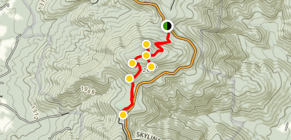 Appalachian Trail: Compton Gap to Jenkins Gap Map