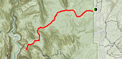 East Mesa Trail to Observation Point Map