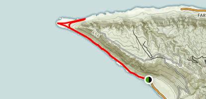 Ka'ena Point Trail (from South) Map
