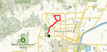 The Four Hills of Corvallis Map