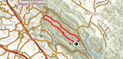 East Ridge and Stream Trail Loop  Map