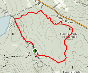 Harris Center Orange Trail Map