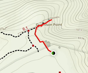 Gunnison Point Overlook Map