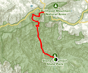 Stone Mountain - Widow's Creek to Deep Gap Map