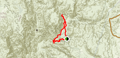 Fisherman's Camp Loop and Tenaja Falls Map