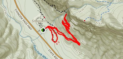 Snoquera Falls and Moss Lake Loop Trail Map