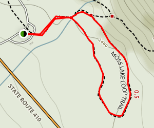 Moss Lake Loop Map