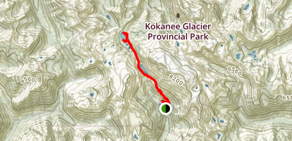 Gibson Lake Trail to Keen Lake, Kaslo Lake, and Garland Lake Map