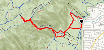 Map Of Young Arizona.Young Man Trail Arizona Alltrails