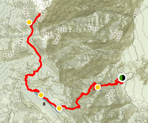 Olancha Peak Map