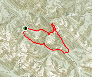 Fiddle Pass and Mystery Lake Connector Loop Map