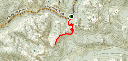 Ripple Ridge to Salmo Creston Pass Map