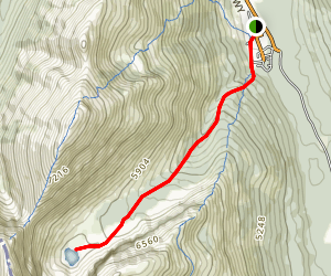 Mount Haig Lake Trail Map
