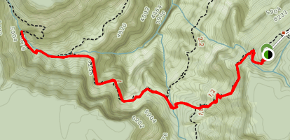 Hermit Trail to Dripping Springs Map