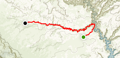 Coyote Gulch Trail  Map