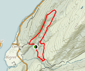 Inchree Falls Loop Map